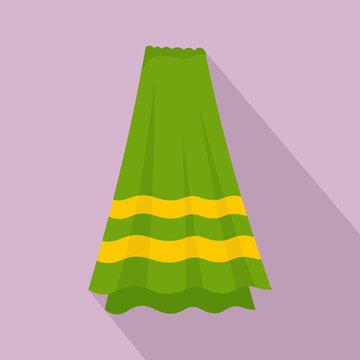 Bath towel icon. Flat illustration of bath towel vector icon for web design