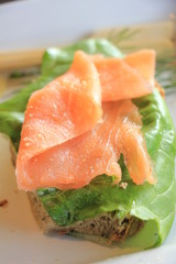 Fresh salmon sandwich