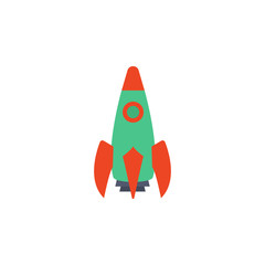 colored rocket icon. Element of science and laboratory for mobile concept and web apps. Detailed rocket icon can be used for web and mobile. Premium icon
