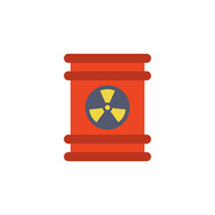 colored barrel of radioactive liquid icon. Element of science and laboratory for mobile concept and web apps. Detailed barrel of radioactive liquid icon can be used for web