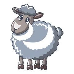 Cute sheep icon, cartoon style