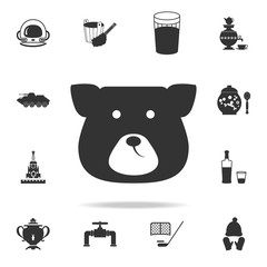 face bear icon. Detailed set of Russian culture icons. Premium graphic design. One of the collection icons for websites, web design, mobile app
