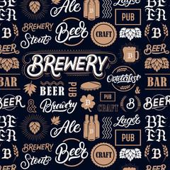 Beer brewery pattern