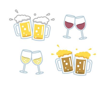 いろいろなビールとワイン