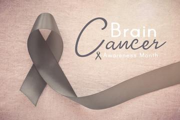 gray ribbon, Brain Cancer Awareness month