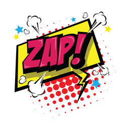 Zap! Comic Speech Bubble