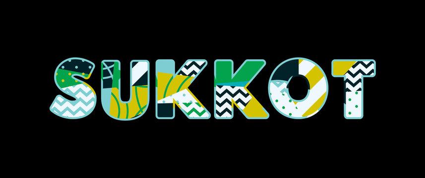 Sukkot Concept Word Art Illustration