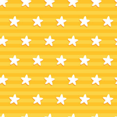 Star pattern in yellow stripe. A playful, modern, and flexible pattern for brand who has cute and fun style. Repeated pattern. Happy, bright, and magical mood.