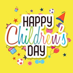 children`s day vector background