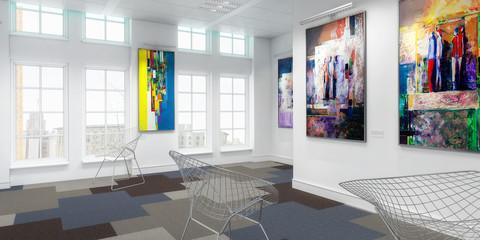 Bilderausstellung (panoramisch)