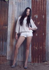 Beautiful Asian Model Fashion shoot