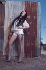 Beautiful Asian Model, sleek chic fashion style