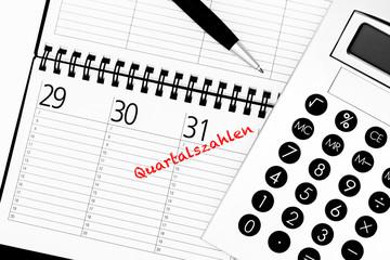 Quartalszahlen Kalendereintrag