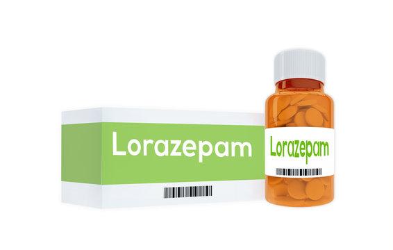 Lorazepam - pharmaceutical concept