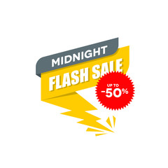 midnight flash sale clip art