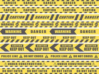 シームレス 危険・注意・立入禁止のテープのセット