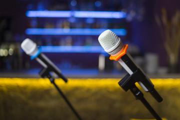 microphone in restaurant