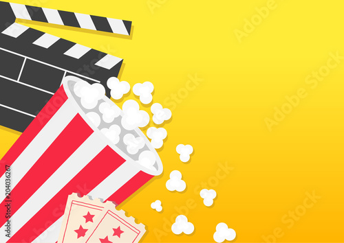 Movie reel open clapper board popcorn bucket box package ticket movie reel open clapper board popcorn bucket box package ticket admit one three star maxwellsz