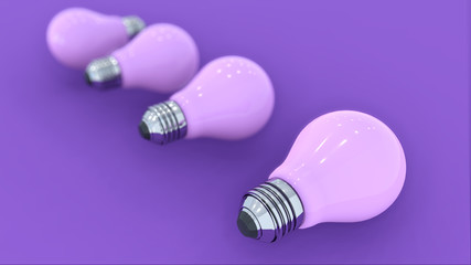 3D Rendering Minimal Pastel Pink Lamp Light