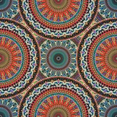 Seamless pattern mandala ornament. Vintage decorative elements. Hand drawn oriental background.