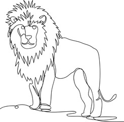 lion. line drawing