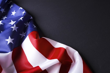 Background flag of the United States of America for national federal holidays celebration and mourning remembrance day. USA symbolics.