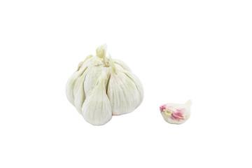 Fresh garlic on white background, isolated