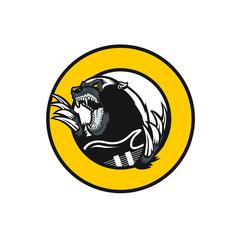 honey badger pun rock clip art