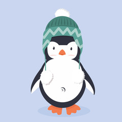 Cute Penguin characters with hat