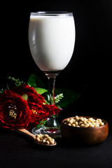soybean milk and soybean seed and Flower