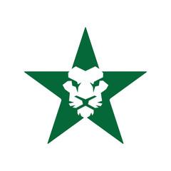 Lion Star Logo template
