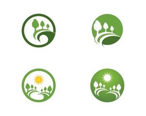 Road tree logo vector