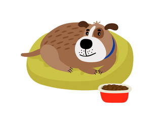 Pet dog cartoon icon