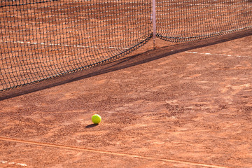 Wall Mural - Red clay tennis court