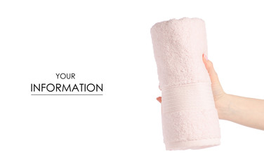 The pink towel roll in hand pattern