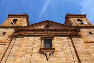 San Juan Bautista church in Casas Ibanez village, Spain.