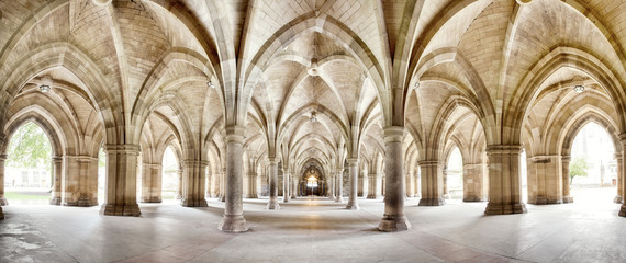 Glasgow University Cloisters panorama Fotomurales