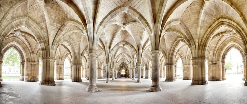 Glasgow University Cloisters panorama