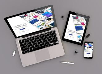 Wall Mural - responsive design website builder zenith view