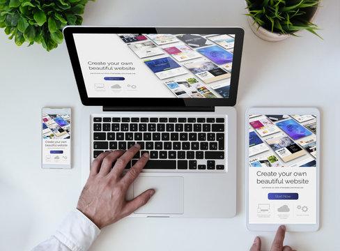 office tabletop cool website builder