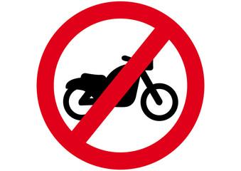 Schild Motorrad verboten
