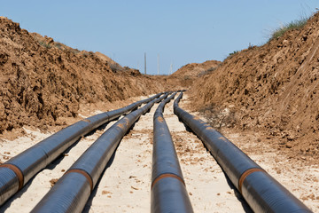 Laying pipelines in a special corrosion-resistant insulation in the trench
