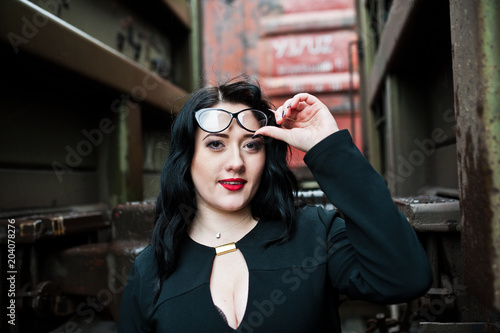 Girls with glasses wearing latex