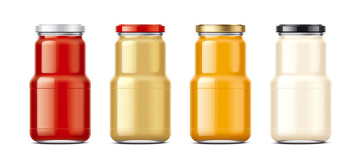 Bottles for sauces and canned food