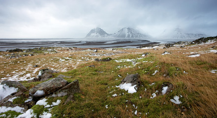 Stokksnes Peninsula after March Storm, Iceland