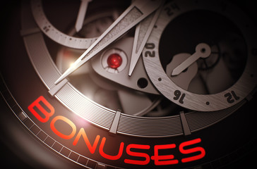 Bonuses on Automatic Men Pocket Watch Mechanism. 3D.