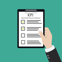 kpi key performance indicator business concept evaluation strategy plan measure hr
