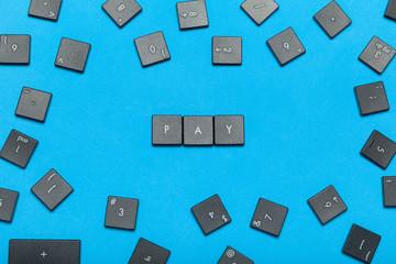 Online internet pay concept.