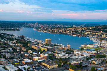Lake Union and Cascade district, Seattle, Washington State, USA