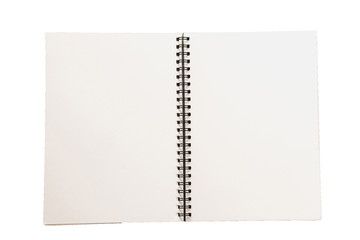 Isolated Paper notebook for memo message with clipping path on white background